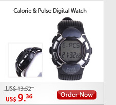 Calorie & Pulse Digital Watch