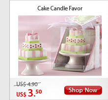 Cake Candle Favor